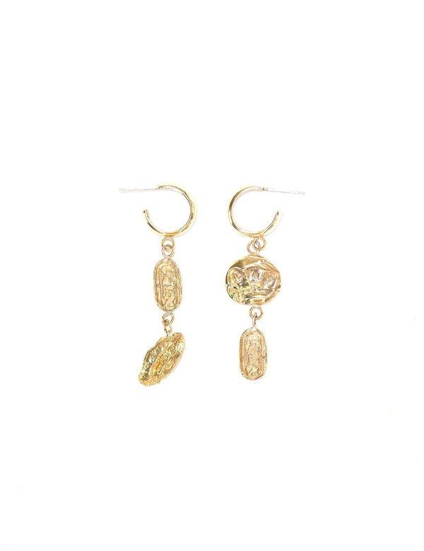 I Like It Here Club Artifact Earrings - Gold Plated
