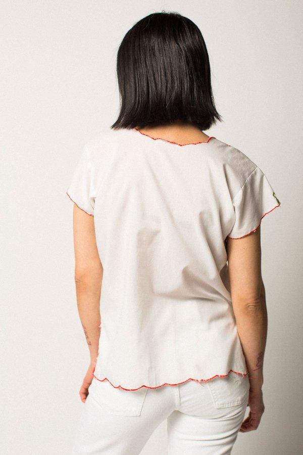 Preservation Vintage Sheer Embroidered Top