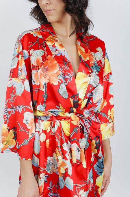 LoversLand Garden Floral Robe - Red