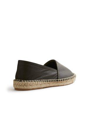 Lisa B. Leather Classic Espadrille - Olive