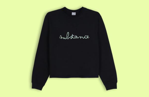 Lb2 Studio Substance Crop Sweater - Black