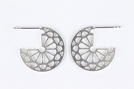 Andrea Shelley Medallion Cuff Earrings - Sterling Silver