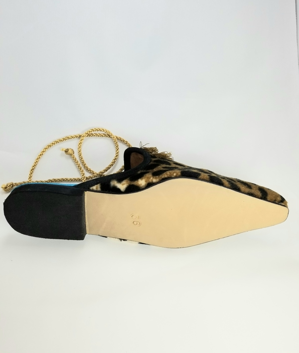 Coast & Koi Crystal Tie Back Shoes - Leopard