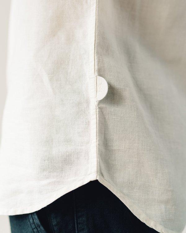 Folk Stitch Pocket Shirt - Stone