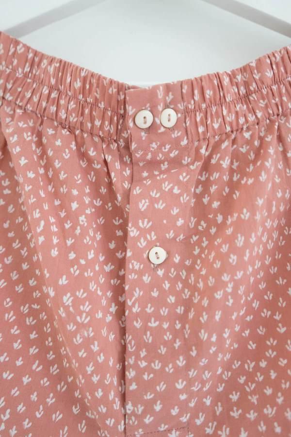 Karu Scrub Print Shorts - Dusty Pink Clay