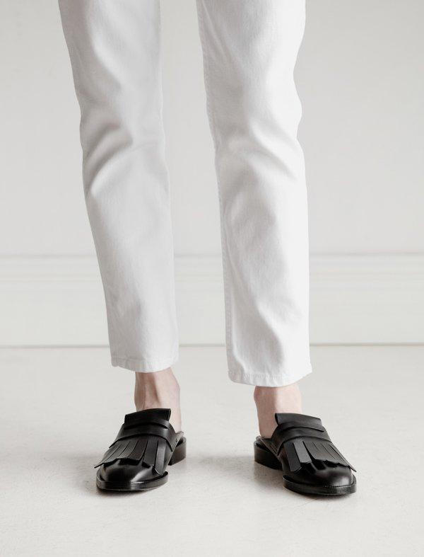 Robert Clergerie Yumi Kiltie Slide - black