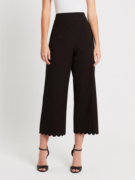Rebecca Taylor Scallop Crop Pant - Black