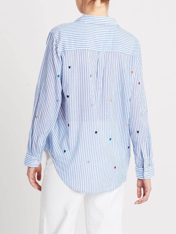 Rails Taylor Shirt - Rainbow Embroidered Hearts