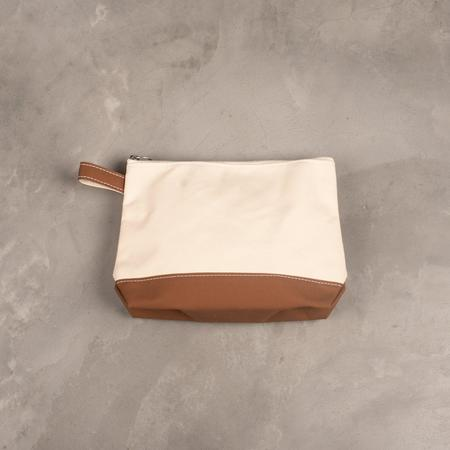 Tembea Large Toiletry Bag - Natural/Moka-Brown