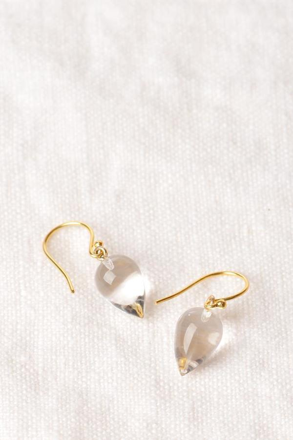 Percent Jewelry Rock Crystal Cabochon Drop Earring