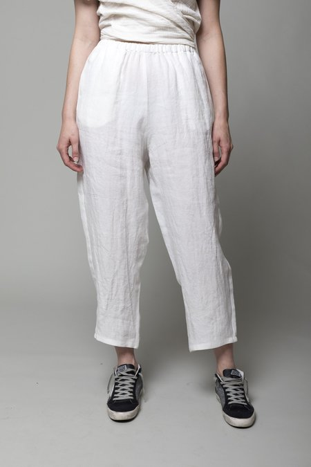 A Punto B Linen Trousers - Latte