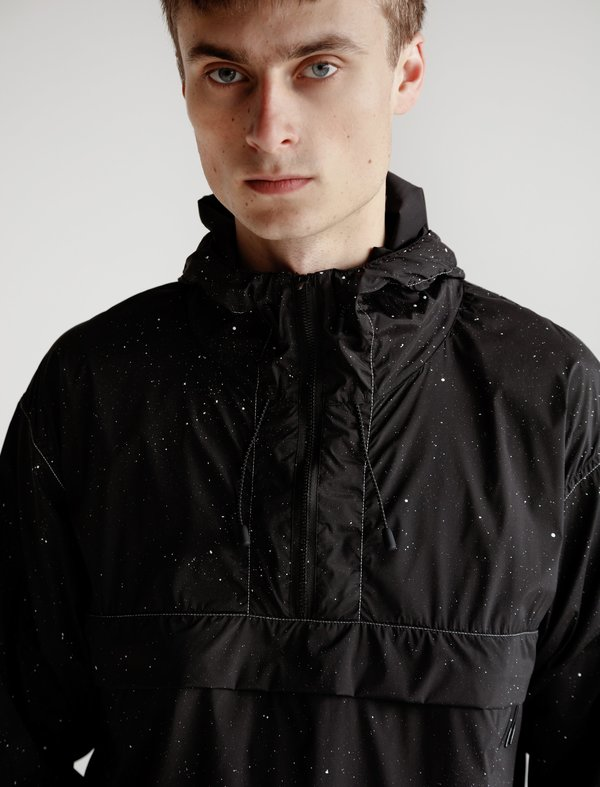 Satisfy Anorak Silk Splattered - Black