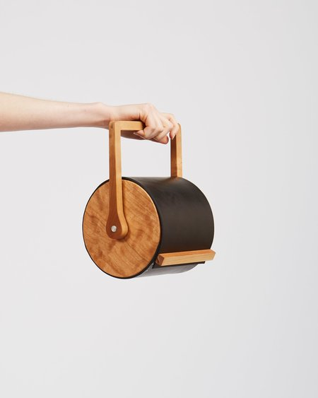 Atelier Delphine Cylinder Bag - Black