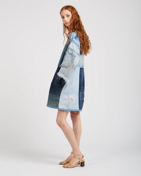 Silkdenim Sarah Denim Patchwork Dress