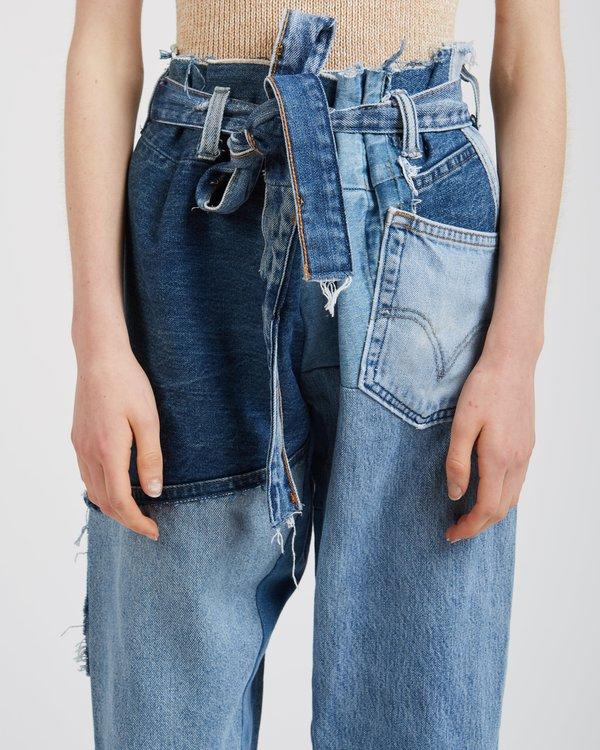Silkdenim Liz Denim Patchwork Pants