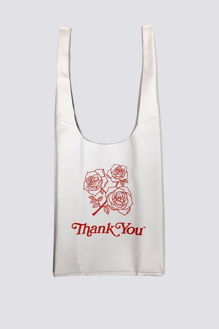 AW by Andrea Wong White Roses Gratitude Grocery Bag - white