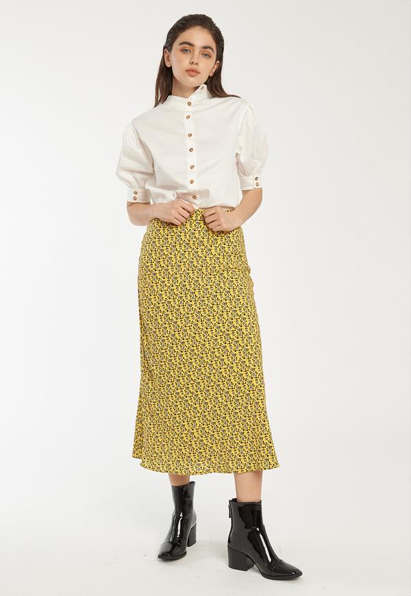 C/MEO Sanguine Skirt - Yellow Floral