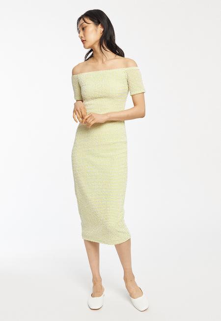 Rita Row Sara Dress - Green Embossed