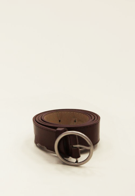 Collection & Co Zoni Circle Ring Belt - Burgundy