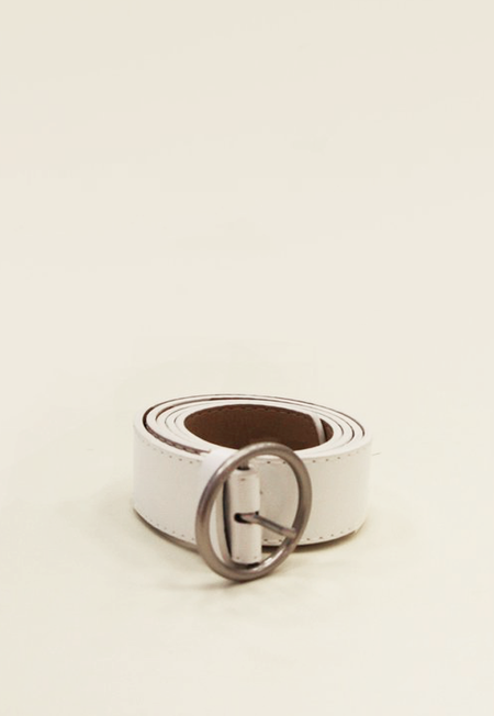 Collection & Co Zoni Circle Ring Belt - White