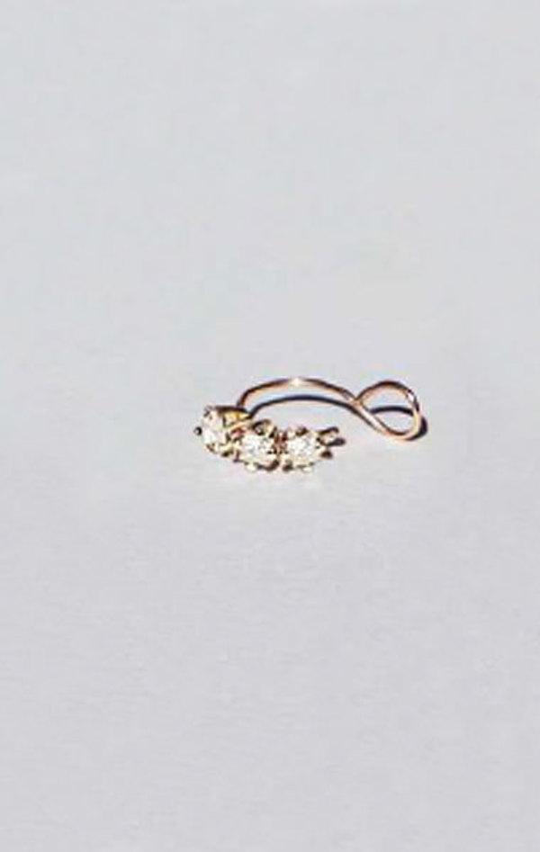 Saskia Diez Diamond Ear Cuff