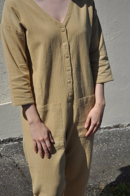 Happy French Gang Jumpsuit - Mustard