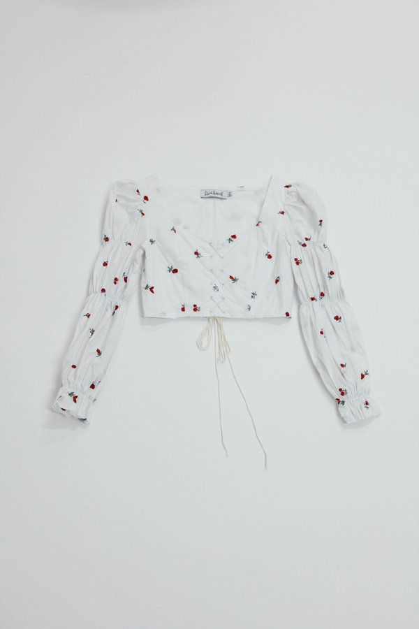 RACHEL ANTONOFF MADELINE CORSET TOP - Rose Embroidery