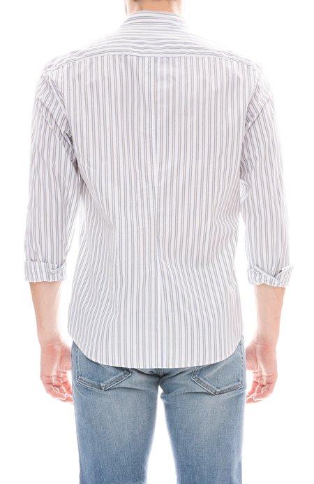 Frank & Eileen Finbar Striped Cotton Shirt - Yellow/Blue