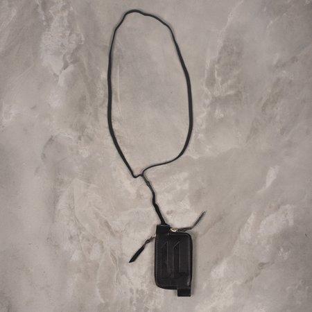 11 by Boris Bidjan Saberi Cow Skin Wallet  - Black