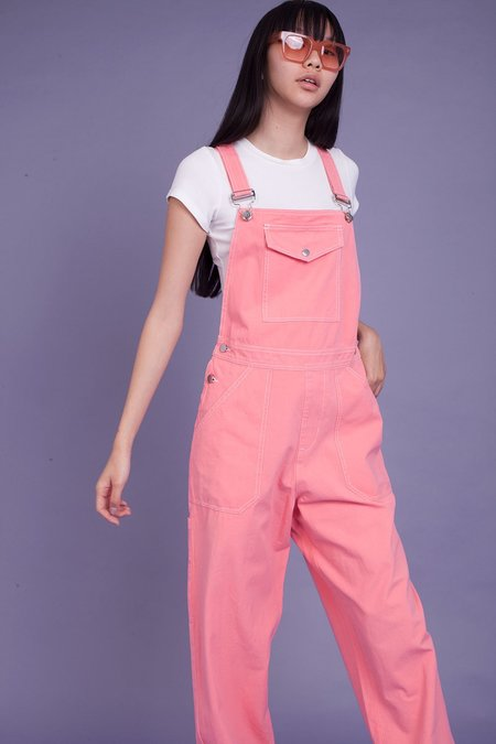 Markey Canvas Dungaree - Pink
