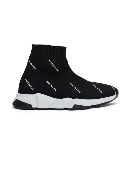 Kids Balenciaga Speed Trainer Sneakers - Black