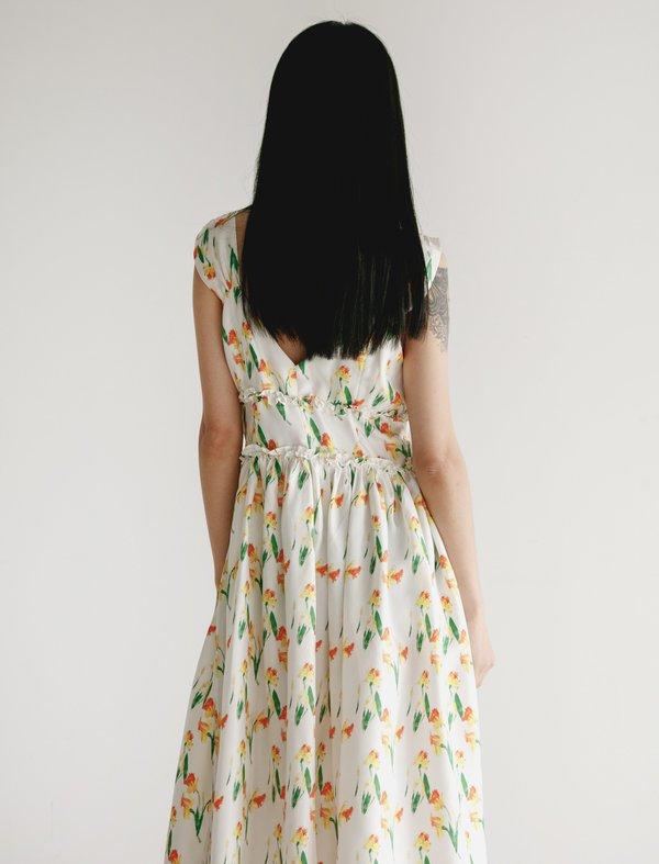 Shrimps Elara Silk Dress - Daffodil