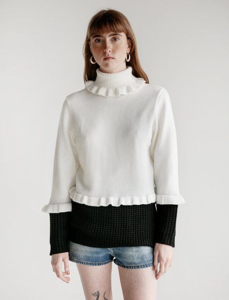 Shrimps Mercury Two Tone Jumper - black/white