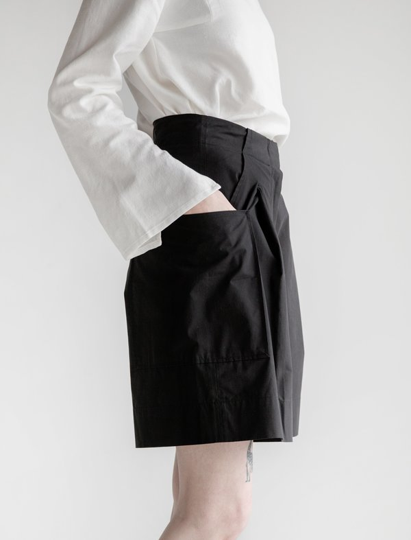 Studio Nicholson Riley Volume Shorts - Black