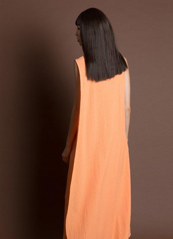 KAAREM Turn Sleeveless Overlap Maxi Dress - Textured Orange