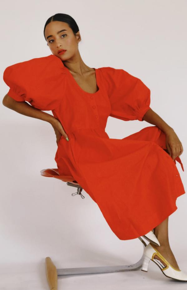 Hannah Kristina Metz emma dress - poppy