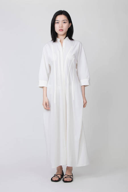 JIL SANDER DRESS WITH POCKETS - WHITE