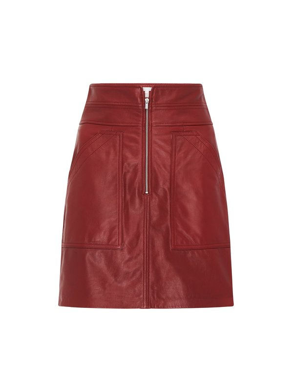 Rebecca Taylor Leather Skirt - Spice