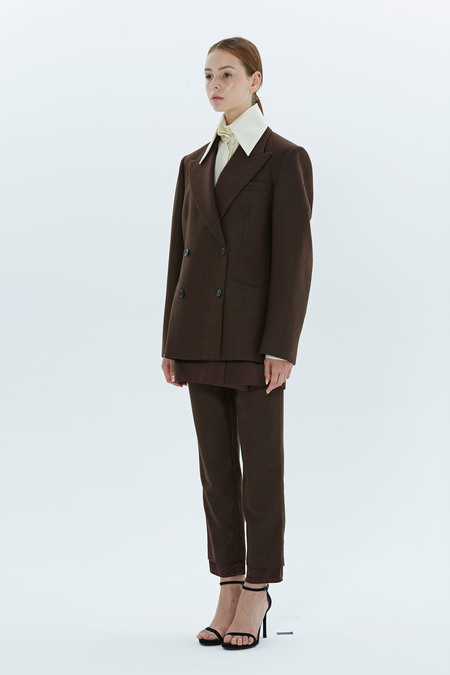 ARCHIVIO DOUBLE BREAST JACKET - BROWN