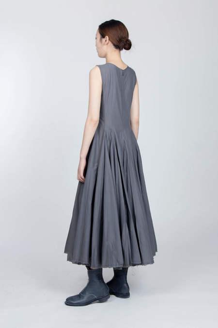 MARC LE BIHAN Pince Croix Voile Cotton Dress - Grey