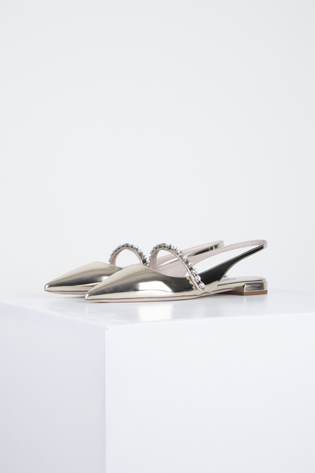 Miu Miu BALLERINAS - MIRROR LEATHER