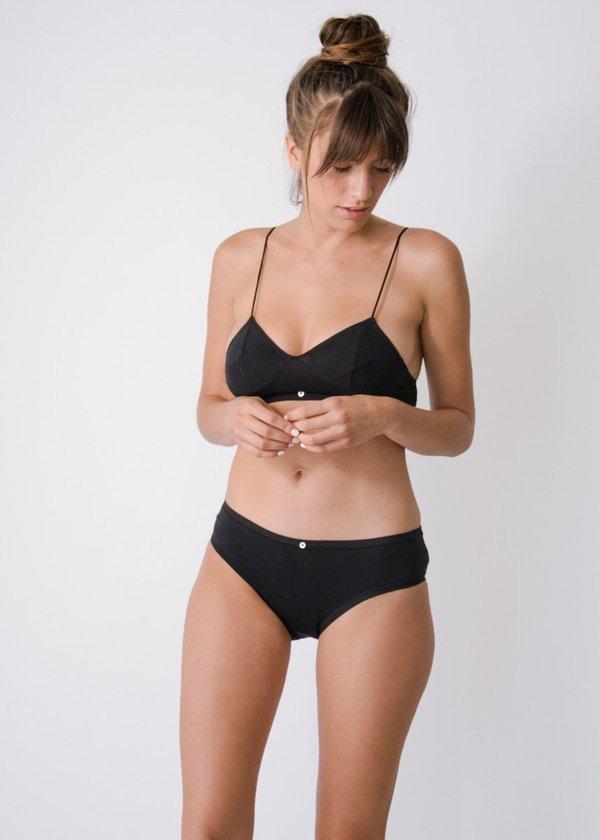 Botanica Workshop Lila Bikini Brief - BLACK