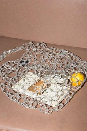 Mozh Mozh Flower Beaded Bag