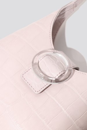 IMAGO-A Croc Lucite Purse - Rose