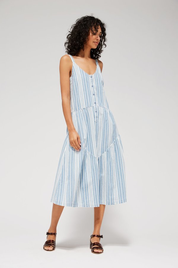 Lacausa Blue Moon Dress - Indigo Stripes