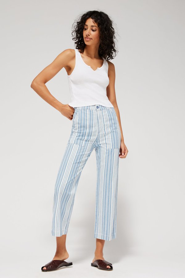 Lacausa Rowan Trousers - Indigo Stripes