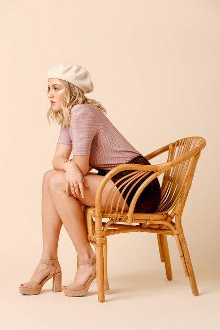 Dolores Haze Georgia Turtleneck - Ballet Pink
