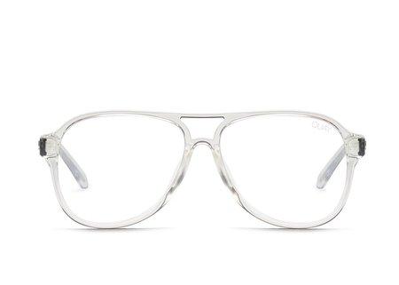 Quay Magnetic Blue Lens Sunglasses - Clear