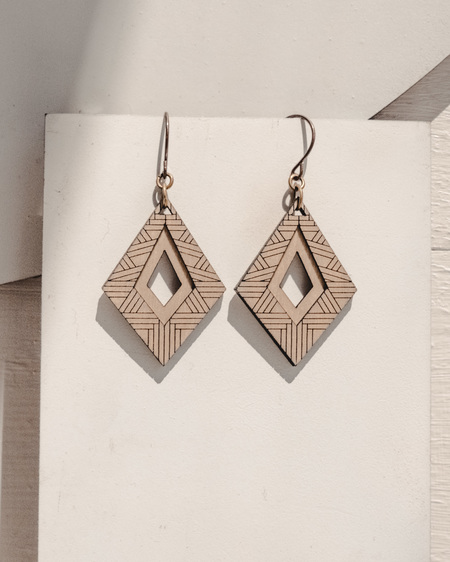 FOOL'S GOLD mirage modern diamond earrings