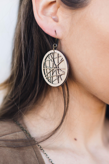 FOOL'S GOLD siren nature inspired earrings